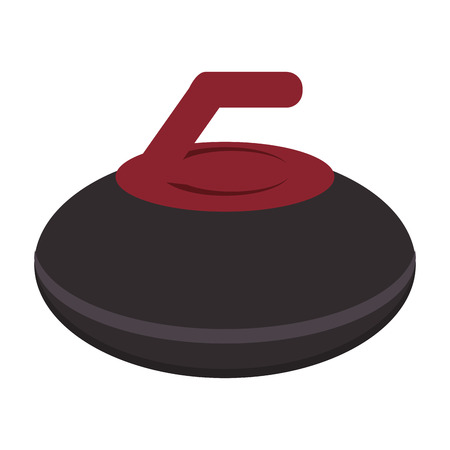 curling stone: flat design curling stone icon vector illustration