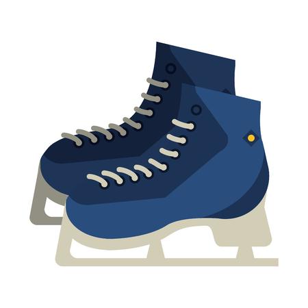 Flache Design Eis Schlittschuhe Vektor-Illustration