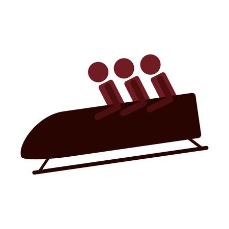 bobsleigh: flat design bobsleigh sport icon vector illustration