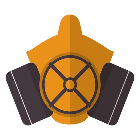 flat design gas mask icon vector illustration Illustration