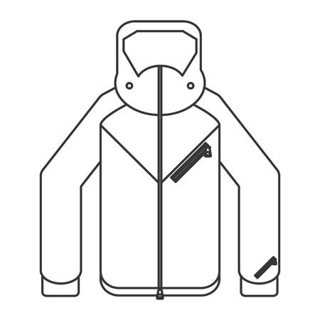 winter jacket: flat design winter jacket icon vector illustration