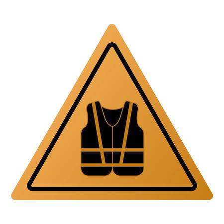 safety vest: flat design safety vest icon vector illustration sign