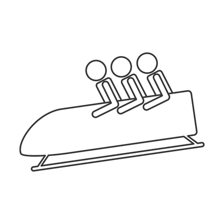 bobsleigh: flat design bobsleigh sport icon vector illustration