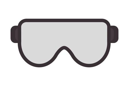 flat design safety goggles icon vector illustration 일러스트