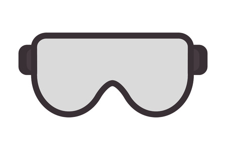 flat design safety goggles icon vector illustration