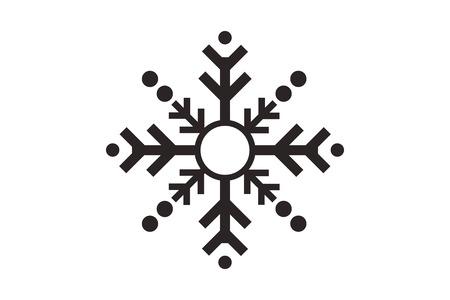 flat design single snowflake icon vector illustration