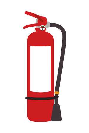 suppression: flat design fire extinguisher icon vector illustration