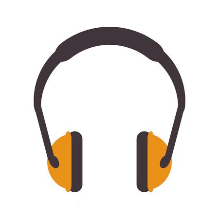 flat design noise isolating headphones icon vector illustration Illustration