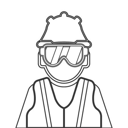 topografo: diseño plano trabajador industrial icono de la ilustración del vector
