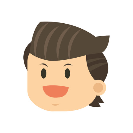 expressive: flat design face of man icon vector illustration Illustration