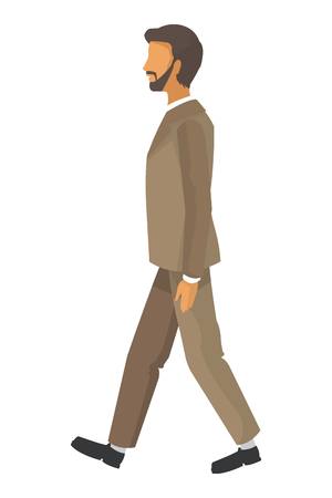 businessman walking: flat design businessman walking icon vector illustration