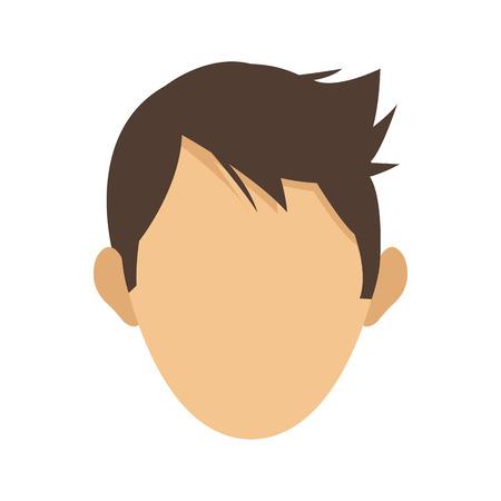 faceless: flat design faceless head of man icon vector illustration Illustration