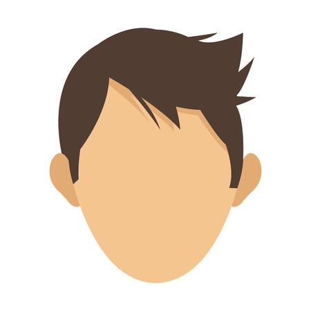 flat design faceless head of man icon vector illustration Illustration