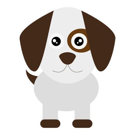 flat design cute dog cartoon icon vector illustration Illustration