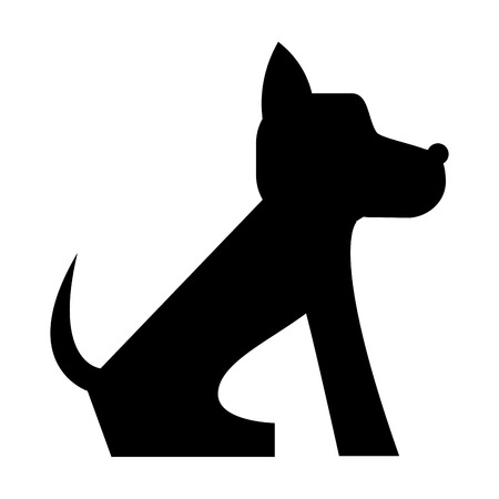 stray: flat design cute dog cartoon icon vector illustration Illustration
