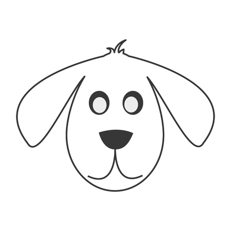 flat design cute dog cartoon icon vector illustration Illustration