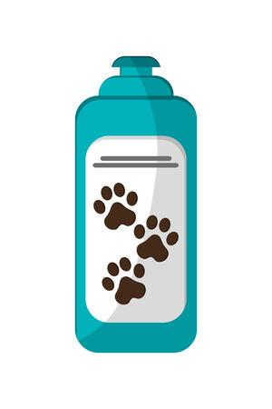 bathtime: flat design pet shampoo icon vector illustration