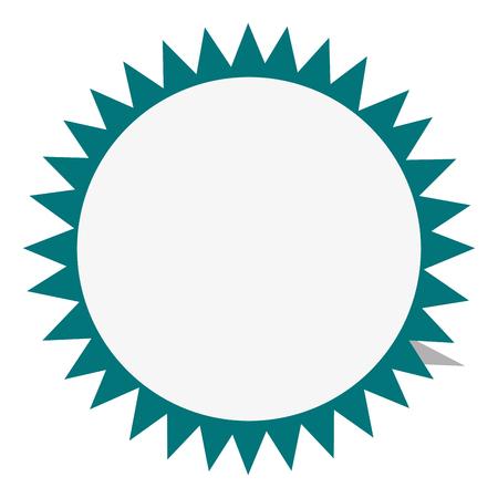 interlinked: flat design circular badge icon vector illustration Illustration