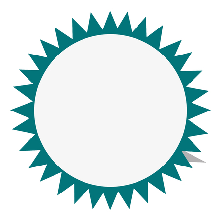 flat design circular badge icon vector illustration Illustration