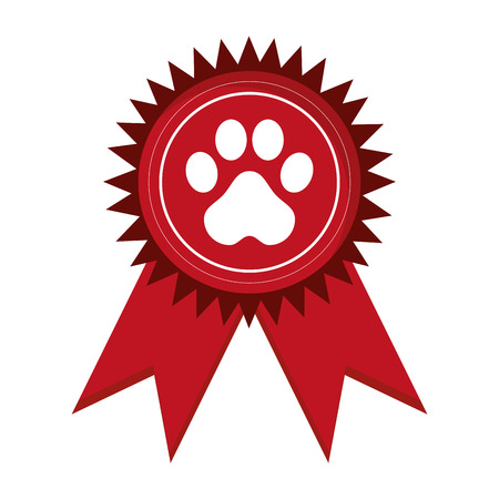 friend nobody: flat design pet award icon vector illustration