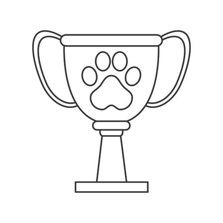 friend  nobody: flat design pet award icon vector illustration