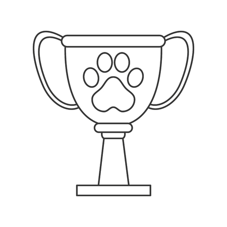 flat design pet award icon vector illustration
