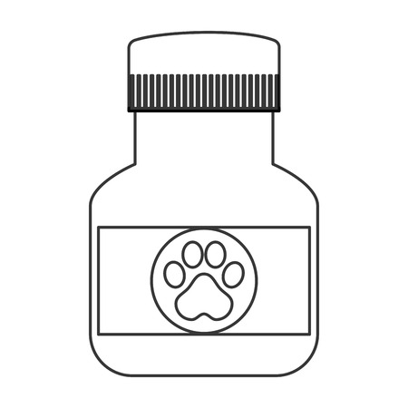 veterinary medicine: flat design veterinary medicine icon vector illustration Illustration