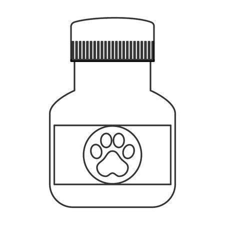 flat design veterinary medicine icon vector illustration Illustration