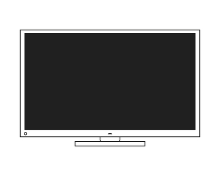 fullhd: flat design modern tv icon vector illustration