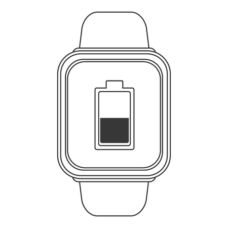 wristband: flat design smart watch icon vector illustration