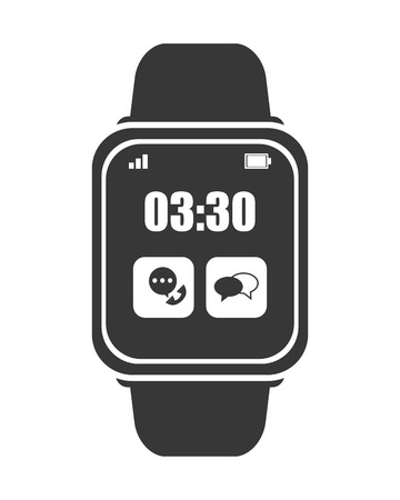 bangles hand: flat design smart watch icon vector illustration