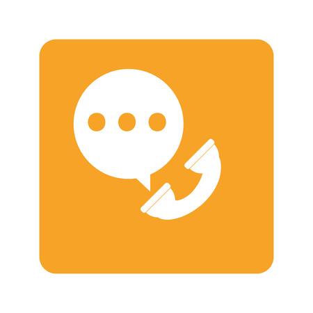 call log: flat design on-going call icon vector illustration