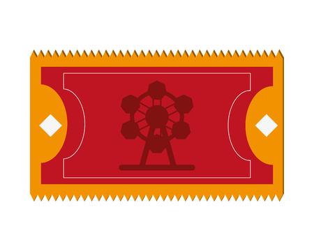 thrill: flat design amusement park ticket icon vector illustration