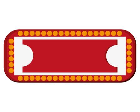 circus sign: flat design circus sign icon vector illustration