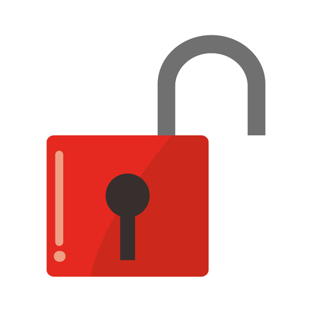 safety lock: flat design safety lock icon vector illustration