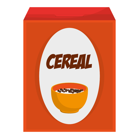 flat design cereal box icon vector illustration