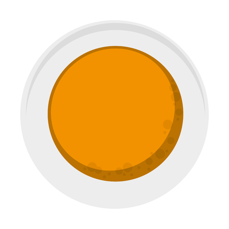 flat design pancakes on plate topview icon vector illustration