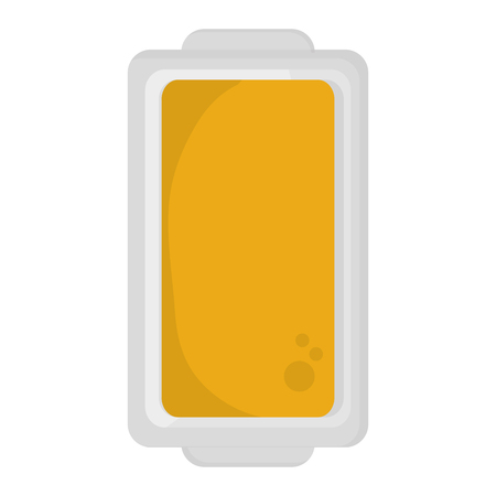 unwrapped: flat design butter on plate topview icon vector illustration Illustration