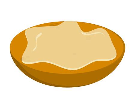 flat design bread slice with spread icon vector illustration Illustration