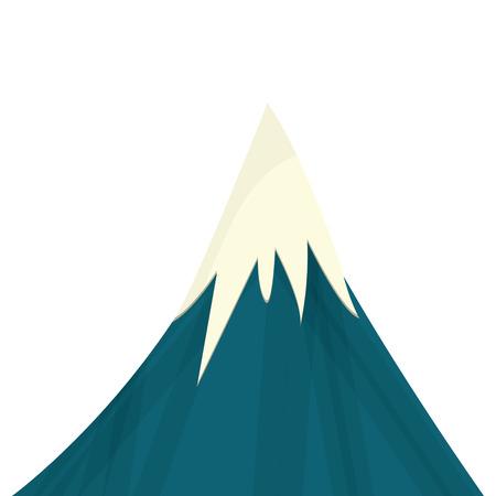 flat design snowy mountain icon vector illustration