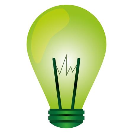 flat design green regular lightbulb icon vector illustration