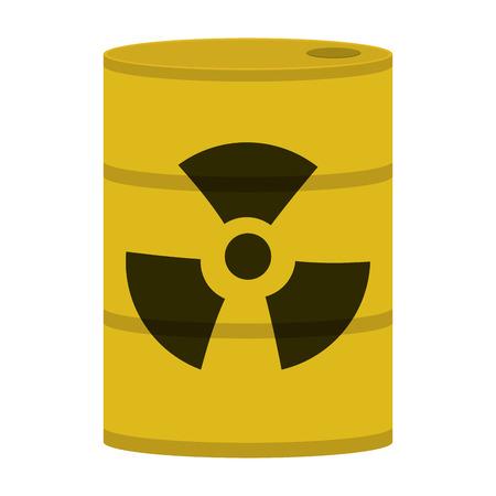 toxic waste: flat design toxic waste icon vector illustration