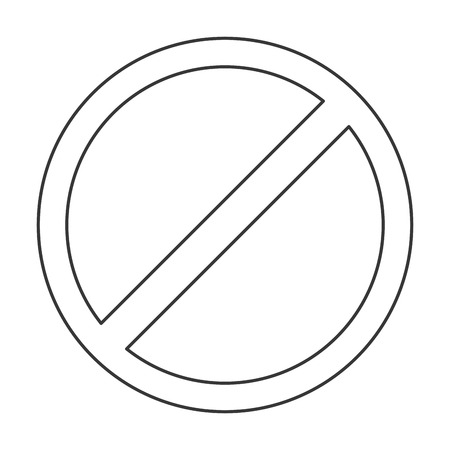 flat design restriction sign icon vector illustration