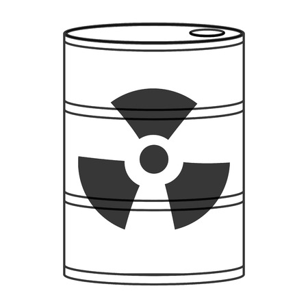 barrel radioactive waste: flat design toxic waste icon vector illustration