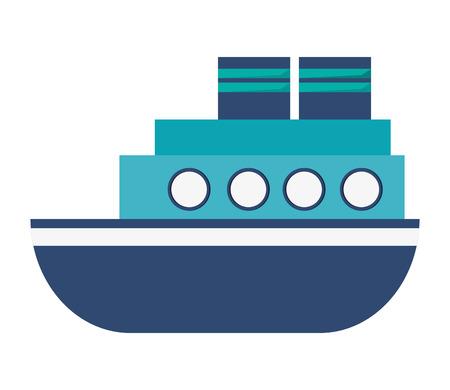 boat motor: flat design motor boat icon vector illustration Illustration