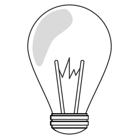 scriibble: flat design green regular lightbulb icon vector illustration