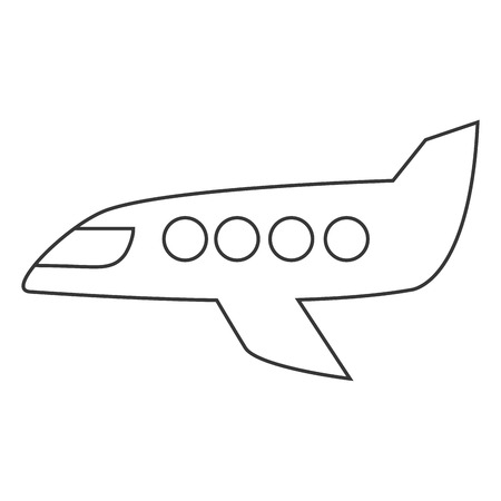 jet plane: flat design jet plane icon vector illustration Illustration