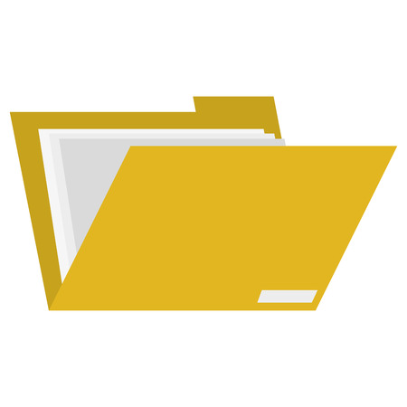 platte ontwerp file folder icon vector illustratie Stock Illustratie