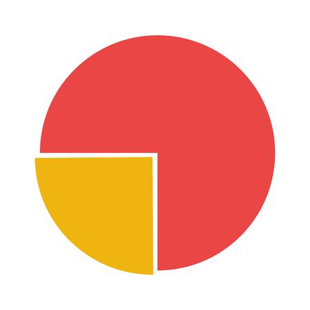 vectro: flat design pie chart icon vectro illustration
