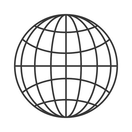 フラットなデザイン地球世界図のアイコン ベクトル図